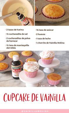 Learn the recipe for homemade vanilla cupcakes. Cupcake Recipes, Cupcake Cakes, Snack Recipes, Dessert Recipes, Healthy Banana Muffins, Banana Bread Muffins, Homemade Vanilla Cupcakes, Chocolat Valrhona, Vanille Cupcakes
