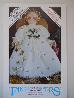 Christmas Celestial Bellringer- Angel Doll Sewing Pattern by Finders Keepers | eBay