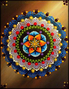Lotus Flower Mandala Painting by Kirsty by ArtbyKirstyRussell
