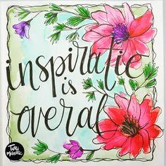 112 vind-ik-leuks, 8 reacties - Tutti Meloettie Tineke de Raat (@tuttimeloettie) op Instagram: 'Inspiration is everywhere. #handletteren#handlettering #handmade #handdrawntype #handmadefont…'