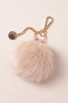 Next Blush Faux Fur Pom Pom Keyring, £8