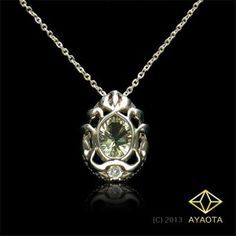 Mint Breeze - AYAOTA, Green Quartz, Silver, Pendant