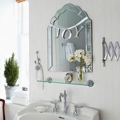 Instantly add Christmas cheer to your bathroom mirror with this simple decoration! Get the how-to here: http://www.bhg.com/christmas/crafts/holiday-projects-for-instant-cheer/?socsrc=bhgpin112814christmasmirrormakeover&page=4http://www.bhg.com/christmas/crafts/holiday-projects-for-instant-cheer/?socsrc=bhgpin112814christmasmirrormakeover&page=4