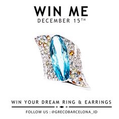 New Dream Ring & Earrings Giveaway starts now! Get your hands on a to-die-for piece from High End Diamond Jewelry and More with a 7.500.000IDR Shopping Bonus to spend in our Store in Lippo Mall Kemang Village Jakarta. (open to all GrecoBarcelona followers in Indonesia). Instructions below: ━━━━━━━━━━━━━━━━━━━⠀⠀⠀⠀ HOW TO PARTICIPATE:  1) Follow GrecoBarcelona_ID (Instagram)  2) Click link in Bio @Grecobarcelona_id to enter your Email 3) Tag 3 friends under this picture Fingers Crossed!! by…