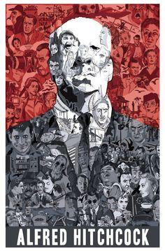 Alfred Hitchcock by Matthew Brazier