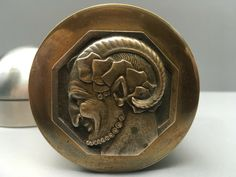 Pierre Turin Bronze Medal Faun Satyr Devil Dose France Messing Art Deco Box | eBay