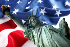 patriotic background : NY Statue of Liberty against a flag of USA Stock Photo Immigration Us, Patriotic Background, Happy Presidents Day, American Pay, Coach Tours, Independance Day, Political Issues, Fb Covers, Citizenship
