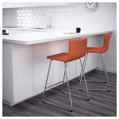 IKEA - BERNHARD, Bar stool with backrest, You sit comfortably thanks to the restful flexibility of the seat.You sit comfortably thanks to the padded seat.Soft, hardwearing and easy care leather, which ages gracefully. Ikea Barstools, Kitchen Stools, Kitchen Flooring, Counter Stools, Fire Pit Table And Chairs, Toddler Table And Chairs, Bar Chairs, Eames Chairs, Dining Tables