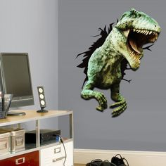 Dino Attack! - Giant Repositionable Wall Cling (Compare to Fathead) - SHIPS FREE! That Daily Deal http://shirt.thatdailydeal.com/preview.php?id=37015#