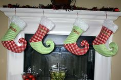 Whimsical red and green personalized by ShabbyChicChristmas