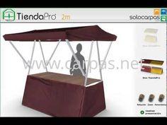 Puesto plegable para mercados TiendaPro™ - Simulador 3D - www.carpas.net
