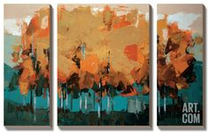 Stand on Slate Canvas Art Set by Peter Colbert at Art.com