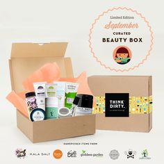 We are partnering with rated clean 0-3 beauty brand sponsors1who support our mission to bring the most requested beauty box to you. Each box comes with 8 hand-picked, rated clean beauty products, a full she-bang of Think Dirty swag goodies and lots of love. Valued at over $250, specially offered to you for $95 US!    The Think Dirty Clean Beauty box is the perfect gift for health-conscious significant others, hard-core yogi friends, or kale-loving besties. Or better yet, show yourself some…