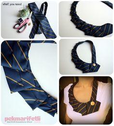 Kravattan yaka kolye yapımı | El Yapımı | Pek Marifetli!