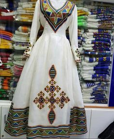 Ethiopian Wedding Dress, Ethiopian Dress, African Wedding Dress, Ethiopian Traditional Dress, Traditional Dresses, Habesha Kemis, Short African Dresses, Aster, Dress Outfits