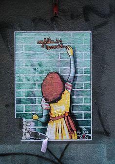 """My father is a terrorist"" – confessed in Prague Spread the weird My Father, Prague, Street Art, Weird"