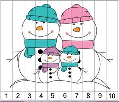 Skip Counting Puzzles for Winter! Count by and starting at another number 3 designs for each number. Includes both horizontal and vertical page orientations Perfect for math centers or guided math. Numbers Preschool, Preschool Math, Kindergarten Activities, Maths, Counting Puzzles, Skip Counting, Autism Activities, Preschool Activities, File Folder Activities