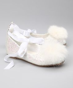 Take a look at this China Doll White Vanessa Ballet Flat by Sparkling Steps: Girls' Shoes on @zulily today!