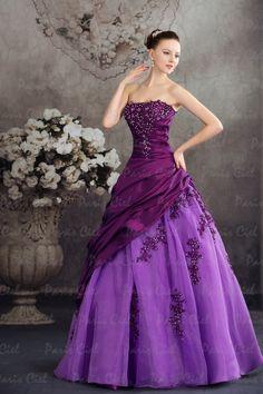Abendkleider Lang Sexy Violett Trägerlos