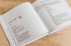 Featured Project: Recipes for Belinda. A gorgeous Recipe Book featuring words only as a gift for Belinda on her Hen's Day.