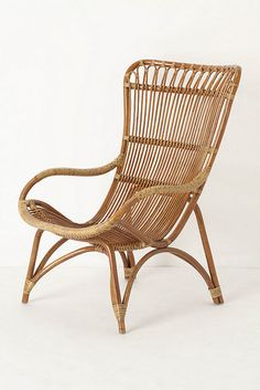 rattan chair from Anthro - Ikea has a knock-off version, but would love to have the real deal
