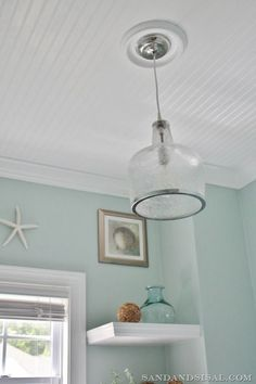 Step by step instructions on installing a bead board ceiling.