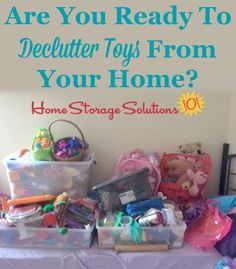 Are you ready to declutter excess toys from your home? If so, here are tips for decluttering toys and games {on Home Storage Solutions Household Organization, Toy Organization, Organizing Tips, Clutter Control, Home Storage Solutions, Family Organizer, Toy Storage, Decluttering, Getting Organized