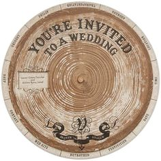 Tree ring wheel DIY wedding invites