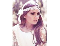 Boho chic is an amazing style for a wedding, it's so relaxing, light, airy - and you look like a forest fairy! If you have already chosen a boho dress to rock, it's time to choose a good bohemian headpiece to accentuate your look. Wedding Headband, Boho Wedding Dress, Wedding Dresses, Boho Headband, Boho Headpiece, Jeweled Headband, Bridal Headbands, Chic Wedding, Gipsy Wedding