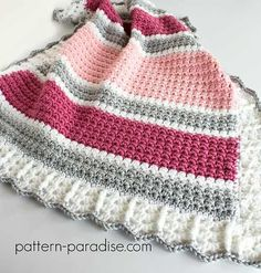 When the perfect yarn meets the right pattern a beautiful baby blanket is created!