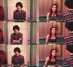 Matt Bennett / Ariana Grande / Victorious~ hehe let's talk about random. And it's sort of funny how I was using their voices in my head. I use to love the show Victorious Nickelodeon, Icarly And Victorious, Robbie Victorious, Ariana Grande Victorious, Dreamworks, Cat Valentine Victorious, Nickelodeon Shows, Sam And Cat, Bae