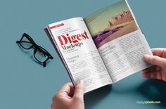 Free customizable paperback digest psd mockup | ZippyPixels #mockup #psd #digest #magazine #free