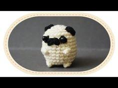 (1) Вязаный мопс амигуруми. Crochet amigurumi pug. - YouTube