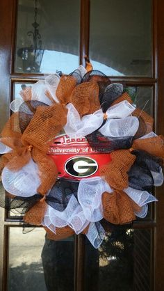 Show your team spirit right on your front door!  This wreath sells for only $50.  Comment or inbox me on facebook to place an order.