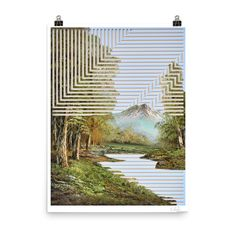 Print from an original collage and ink artwork. Printed on a medium-heavy matte paper using archival inks. Print size 18×24 inches. Ships in a cardboard tube Modern Home Interior Design, Tube, Collage, Ships, Ink, The Originals, Medium, Printed, Paper