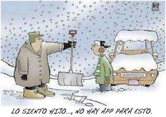 ¡No hay un app para quitar la nieve!