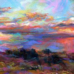 """COLORS - 4 1/2"""" x 4 1/2"""" pastel © Susan E. Roden"""