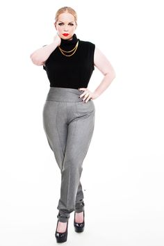 JIBRI Plus Size High Waist Pencil Pants by jibrionline on Etsy, $140.00