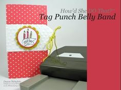 Stampin' Up! Angled Tag Topper Easy Belly Band Card