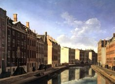 The Golden bend by Berckheyde Showing Amsterdam's new prosperity in 1672