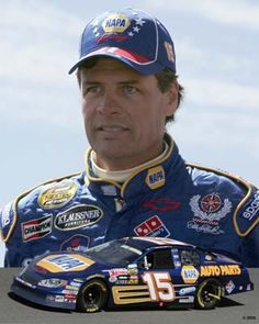 Michael Waltrip - my favorite driver! He smiled and said hi to me once! Made my day!