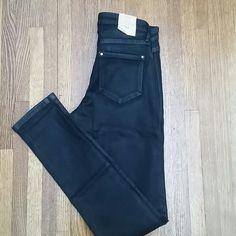 "Selling this ""Club Monaco Sonica waxed black skinny"" in my Poshmark closet! My username is: janeenieb. #shopmycloset #poshmark #fashion #shopping #style #forsale #Club Monaco #Pants"