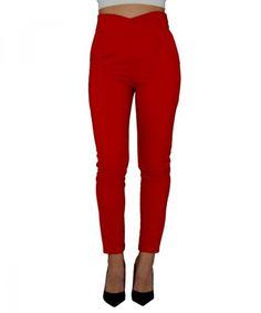 Γυναικείο ψηλόμεσο παντελόνι με τσέπες κόκκινο So Sexy 41554D #παντελονιαγυναικεια #women #womensfashion #womenswear Sexy, Capri Pants, Fashion, Moda, Capri Trousers, Fasion, Fashion Illustrations, Fashion Models