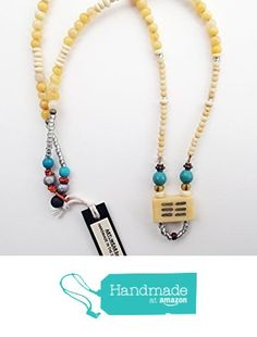 ART::WEAR Necklace by Cherie Lester, Vintage Mahjong Tiles, Czech Glass, Bone, Wood, Metal and Stone Beads on a Genuine Leather Cord. from ART::WEAR Necklaces by Cherie Lester https://www.amazon.com/dp/B01MUBTJ75/ref=hnd_sw_r_pi_dp_CAtHyb4ADJMH0 #handmadeatamazon