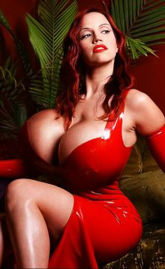 Love red hair with red latex . . .