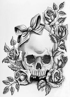 64 ideas tattoo ideas female chest roses for 2019 Tribal Tattoos, Skull Rose Tattoos, Body Art Tattoos, Tattoo Drawings, Butterfly Tattoos, Girly Tattoos, Foot Tattoos, Flower Tattoos, Courage Tattoos