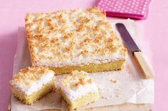 Lemon coconut slice - This lemon slice makes the perfect Sunday afternoon treat.