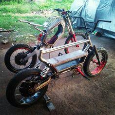 Original Ebike creation by Joseph Rajakaruna - CirKit Motorcycle Design, Motorcycle Bike, Bike Design, Scooter Bike, Cruiser Bicycle, Eletric Bike, E Bike Kit, Homemade Go Kart, Electric Bicycle