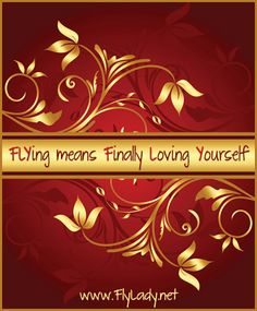 """FLYing Means """"FiNaLLY LoViNG YouRSeLF"""" ____Gotta love FLYLADY! She helps us all find the time to love ourselves so we can be the Powerful women we were created to be! ____FlyLady.net"""