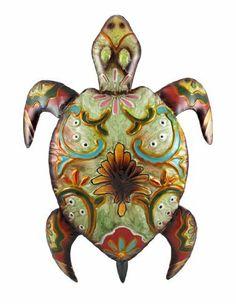 Earth Tone Enamel Painted Sea Turtle Metal Wall Art by Things2Die4, http://www.amazon.com/dp/B008L20324/ref=cm_sw_r_pi_dp_iNb4qb04EQ41S